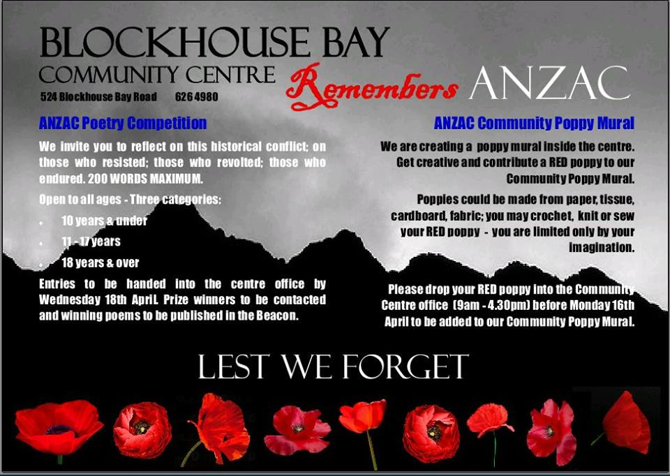 Blockhouse Bay Community Centre Anzac Day
